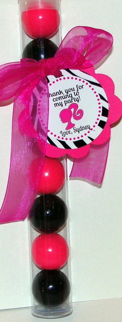 Barbie Gumball Party Favors Set of 5. $10.00, via Etsy.