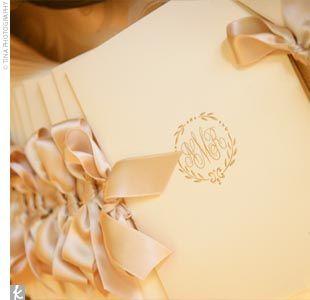 programs: Ivory Wedding, Wedding Ideas, Satin Ribbons, Church Wedding, Beautiful Program, Satin Bows, Wedding Program, Ceremony Program, Silk Ribbons