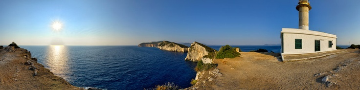 The Lefkatas Cape is the southern poiont of Lefkada island. The lighthouse is built on the ruins of the ancient temple of greek god Appolo