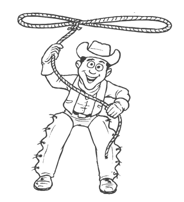 Cowboy coloring pages