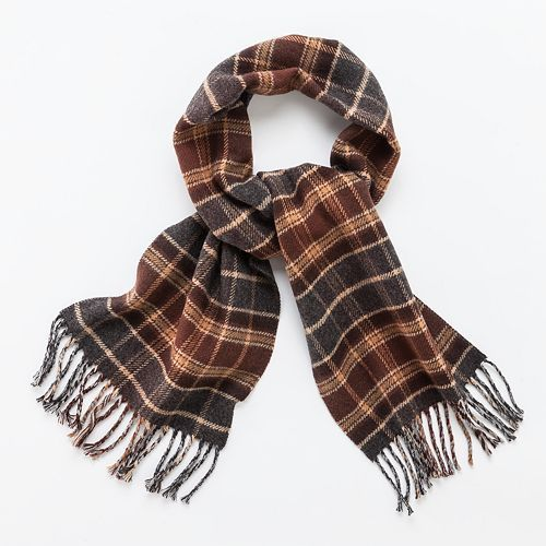 Chaps Solid Plaid Reversible Scarf Kohls Style For