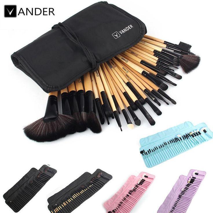 Set Professional Makeup Brush Set Foundation Eye Face Shadows Lipsticks Powder Make Up Brushes Kit Tools + Bag Makeup…