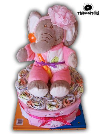 Η ελεφαντίνα έγινε λίγο πιο girly! Δεν είναι γλυκύτατη? Γιατί μερικές φορές οι πελάτες έχουν απίθανες ιδέες και προτάσεις!  Τιμή 35€ (διαμορφώνεται ανάλογα με το βιβλίο)