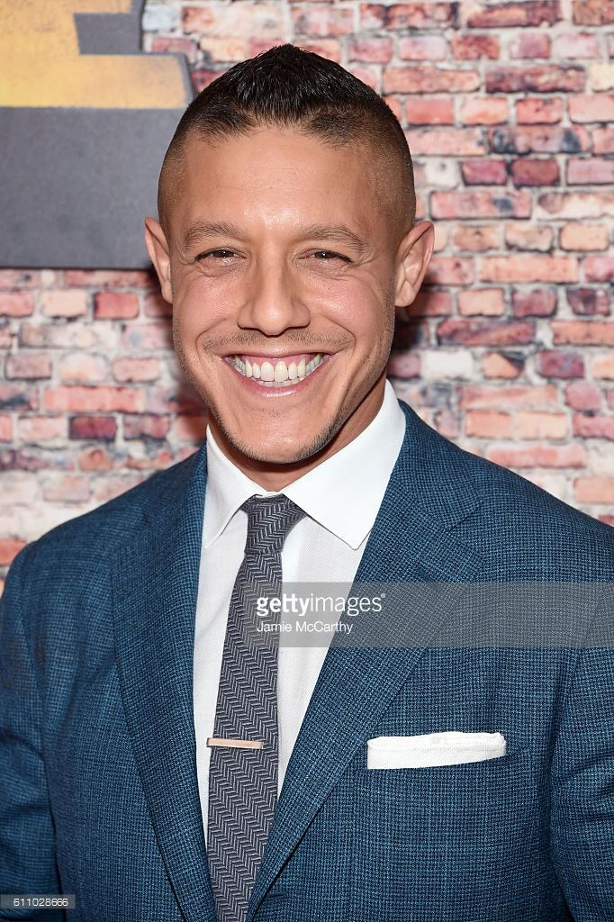 Theo Rossi attends the 'Luke Cage' New York Premiere at AMC Magic Johnson Harlem on September 28, 2016 in New York City.