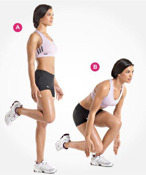 Single-Leg Deadlift  http://www.womenshealthmag.com/fitness/best-butt-exercises/slide/7