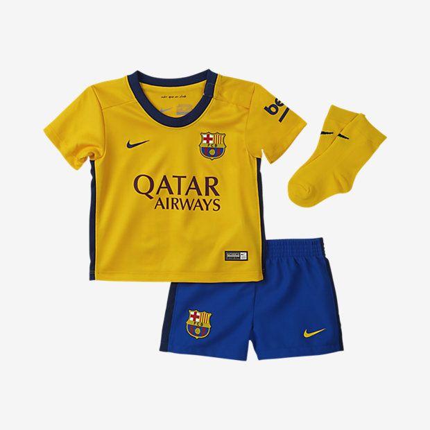 2015/16 FC Barcelona Stadium Away Baby & Toddler Kids' Football Kit