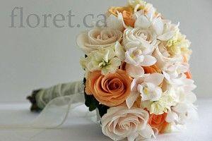 Peaches and Cream Bridal Bouquet