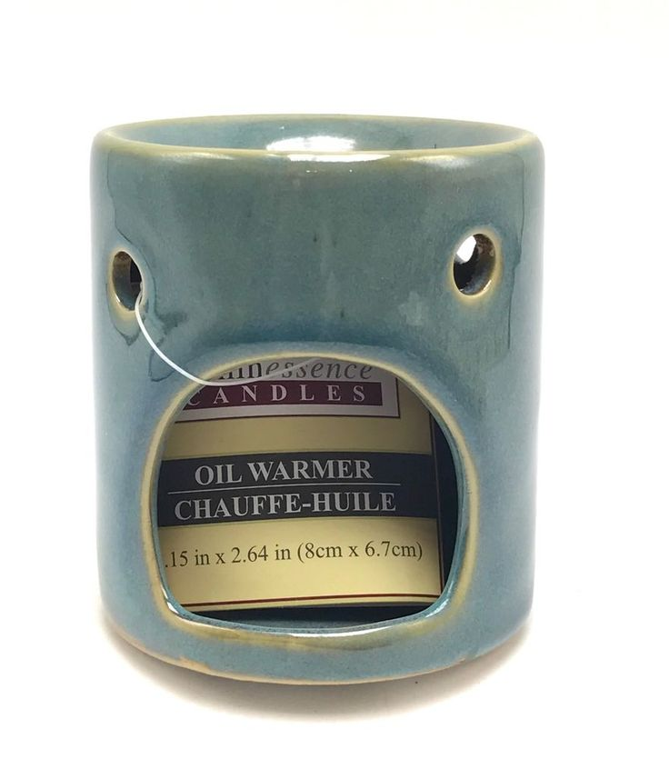 Mini Candle Stove: Mini Ceramic Candle Burner Scented Oil Heater Blue Wax