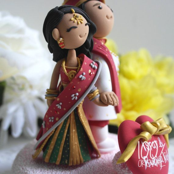 Custom Wedding Cake Topper Indian traditional