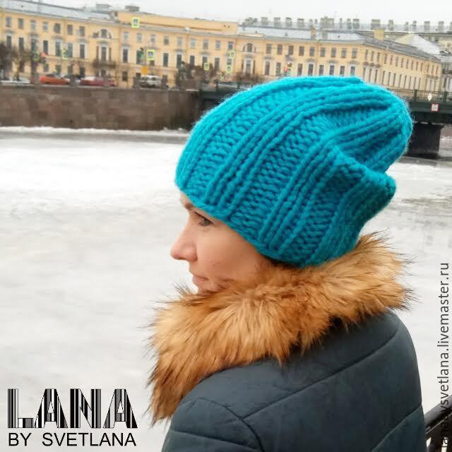 Купить Комплект объемная шапка и снуд из 100% шерсти! - шапка, шапка вязаная, шапка женская