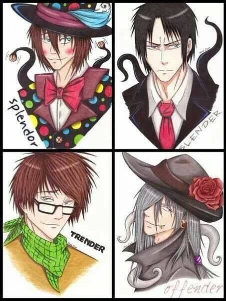 Slenderman, Splendorman, Sexual Offenederman, and Trenderman