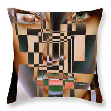 Millennial Square Series 1257 Throw Pillow by Rafael Salazar