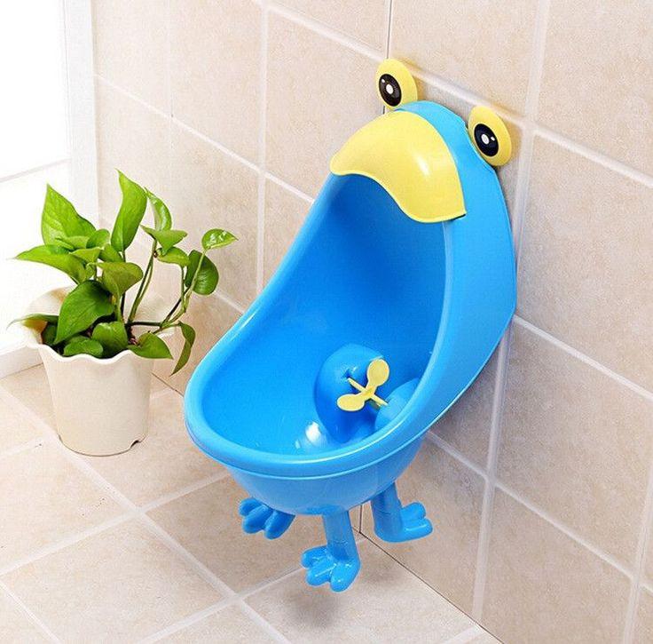 Kawaiii Frog Baby Potty Urinals Boy Cute Children Potty Toilet Training Kids Urinal Plastic Animals Standing Potties With Foot