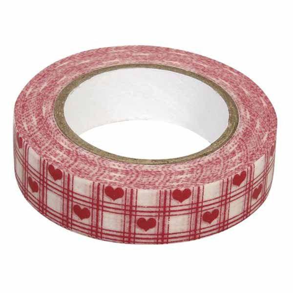 Japán rizspapírra nyomtatott, könnyen visszaszedhető, kézzel is téphető öntapadós ragasztószalag (dekortapasz, dekorszalag)