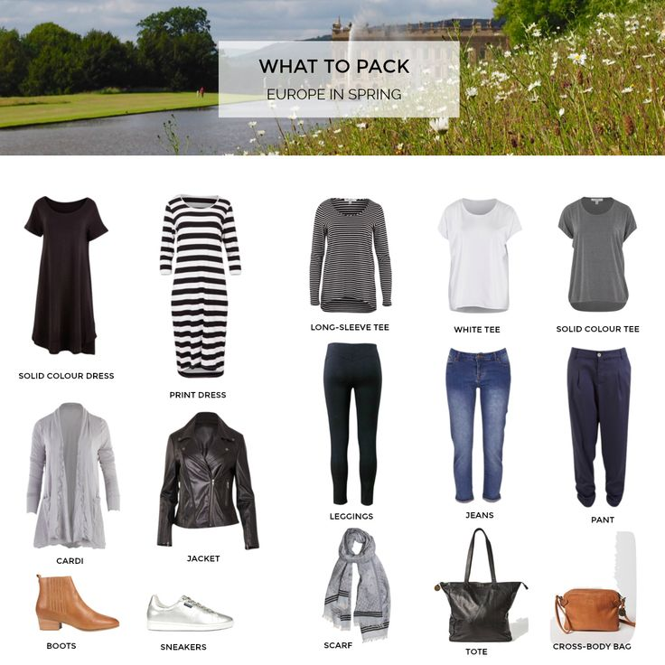 What to pack for a European holiday - spring 2018 | STYLING YOU