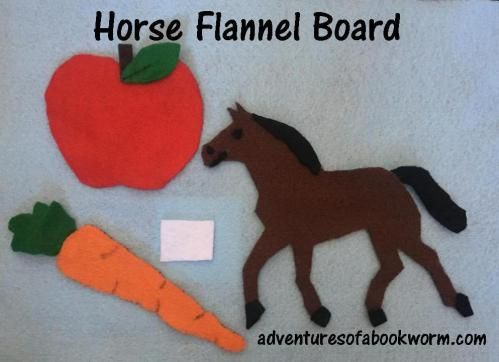 Horse Flannel Board | Storytime: Horses – Adventures of a Bookworm