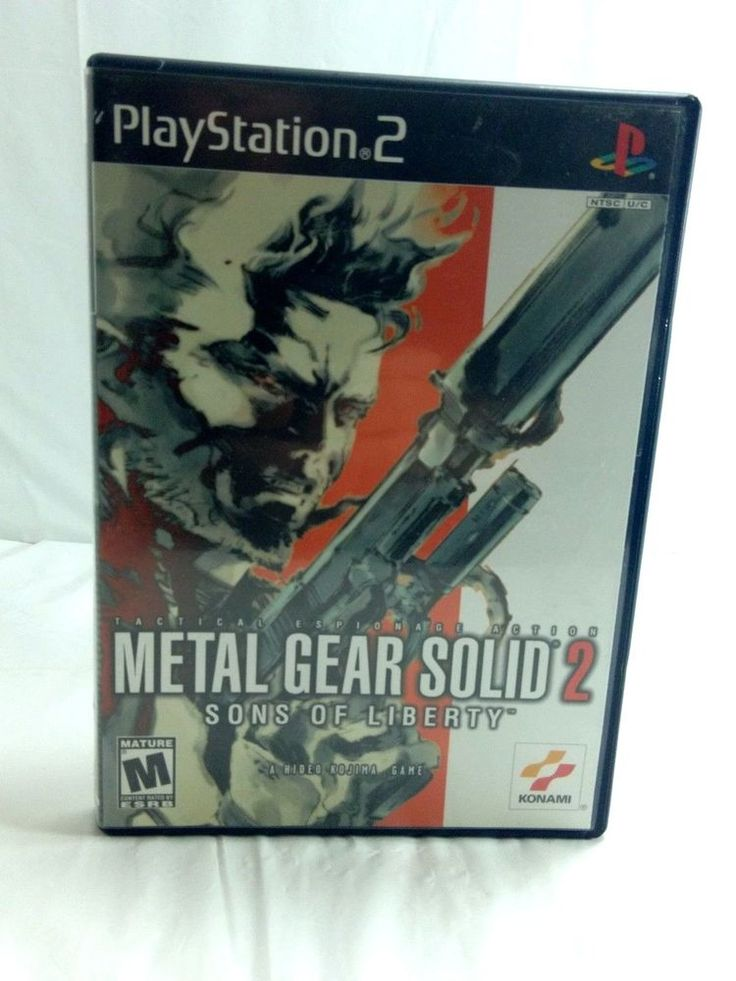 Metal Gear Solid 2 Sons of Liberty MGS PS2 COMPLETE Video game Playstation 2
