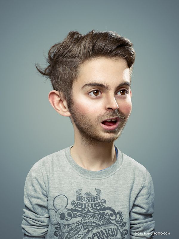 Funny Retouchup Photo Manipulations to transform Adults into Childrens
