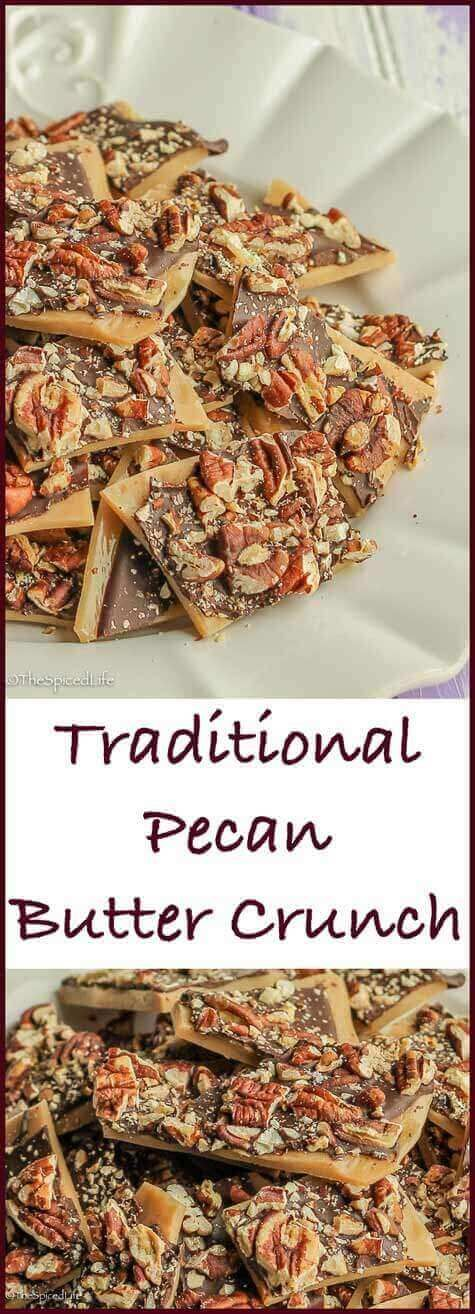 Pecan Butter Crunch: this traditional candy is super easy, perfect for Christmas cookie tins, great for a holiday cookie exchange, and always one of the big hits of my holiday table!