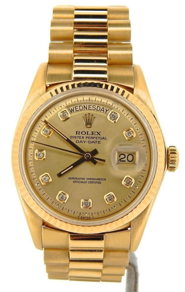 Mens Rolex Day Date President 18k Yellow Gold Watch