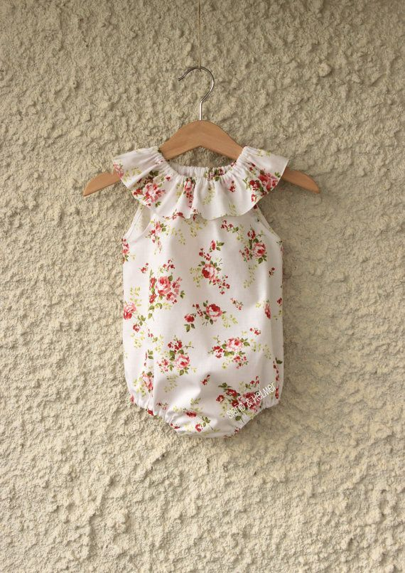 Gorgeous Flower Baby Girls Playsuit Romper...*Made to Order*... Size Newborn - 3 Y Summer Beach Home coming outfit