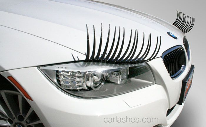 How about dressing up your cars headlights with these cute and creative eyelashes? These Carlashes are made from flexible material that bends around the headlights, and can be placed on most vehicles' headlights using 3M double sided automotive trim tape.