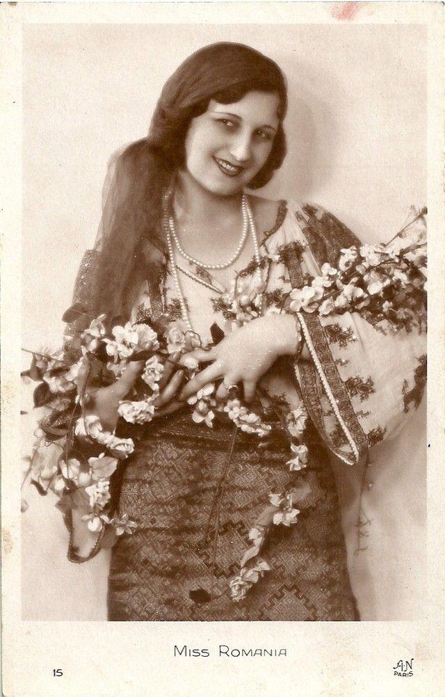 Ретрокрасавицы с конкурса «Мисс Европа — 1930» 14. Мисс Румыния Зойка Дона.