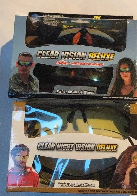 c46da65651 2Pk Clear Vision Deluxe Tactical Sunglasses And 2 Pack Clear Night Vision  Deluxe  fashion  clothing  shoes  accessories  unisexclothingshoesaccs ...