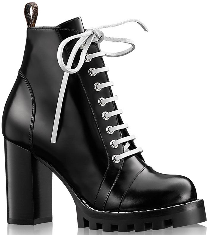 fBYbdVrMZx SuFumZaaD6 Patent Leather Lace Up Boots DVW01