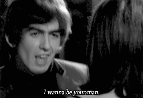 ♡♥George Harrison dances with a young lady - click on GIF♥♡