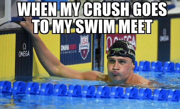 I just try to swim faster and act like I'm not out of breath afterword.