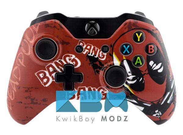 Custom Deadpool Xbox One Controller #kwikboymodz #deadpool #customcontroller #customxboxonecontroller