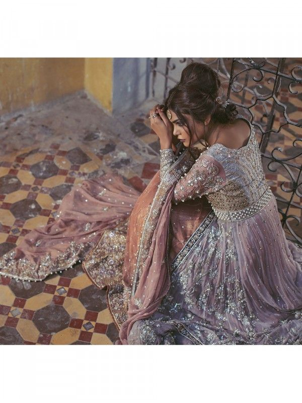 8c1c466187 Pure Silk net bodice & sleeves intricately embellished with resham, tilla,  kora, dabka , cutdana, pearls, crystals, stones and sequins with double  layer ...