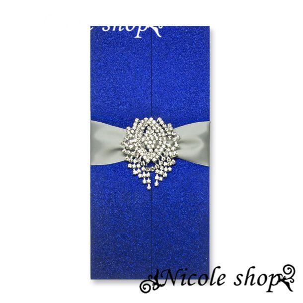 Свадебное приглашение сапфир дорогостоящего алмаза свадебные приглашения украшения свадебная свадебные принадлежности кристалл центральным-чародей карты