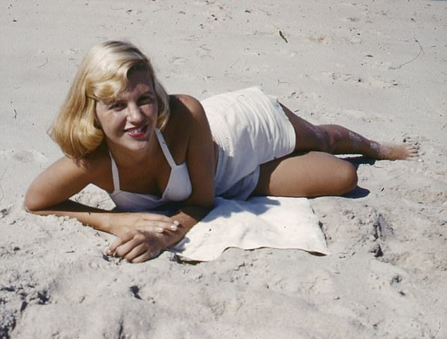 Sylvia Plath in 1954: The poet committed suicide nine years later...