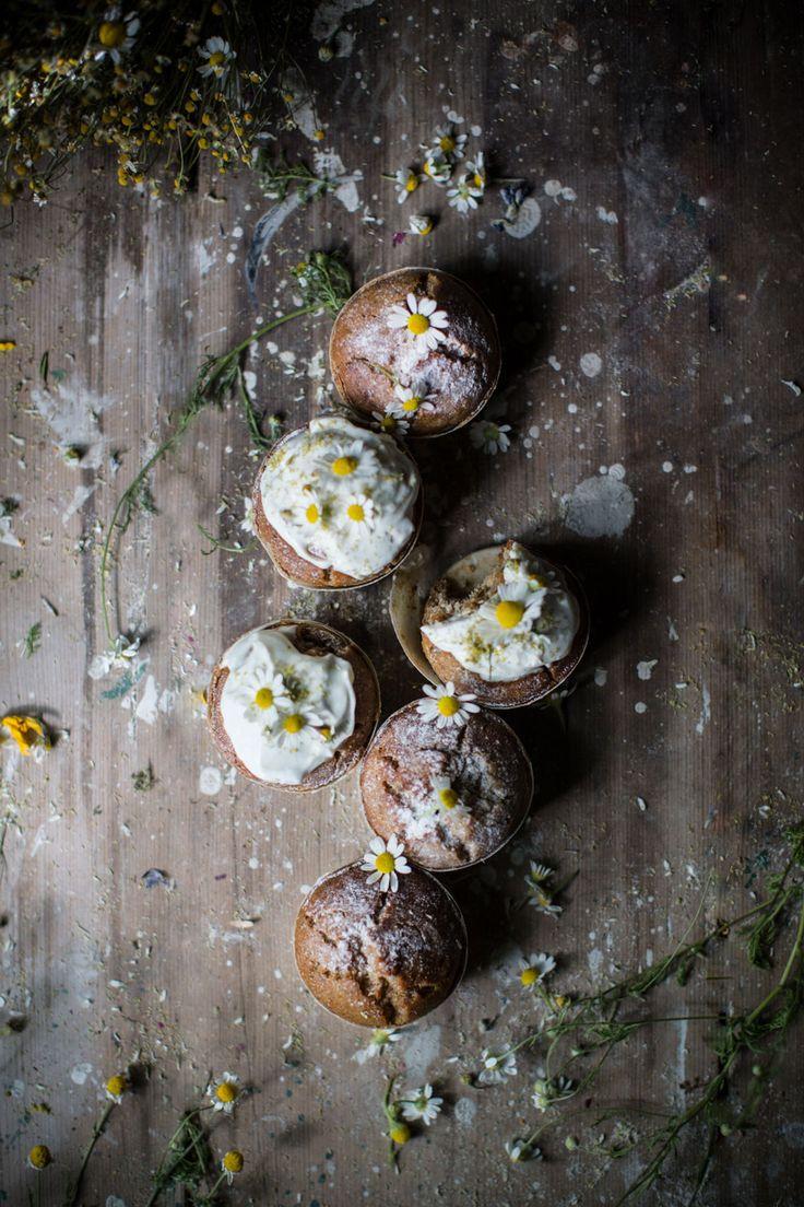 Chamomile Honey Cupcakes {GF, Vegan-izable}Chamomile Honey Muffins {GF, Vegan-izable}