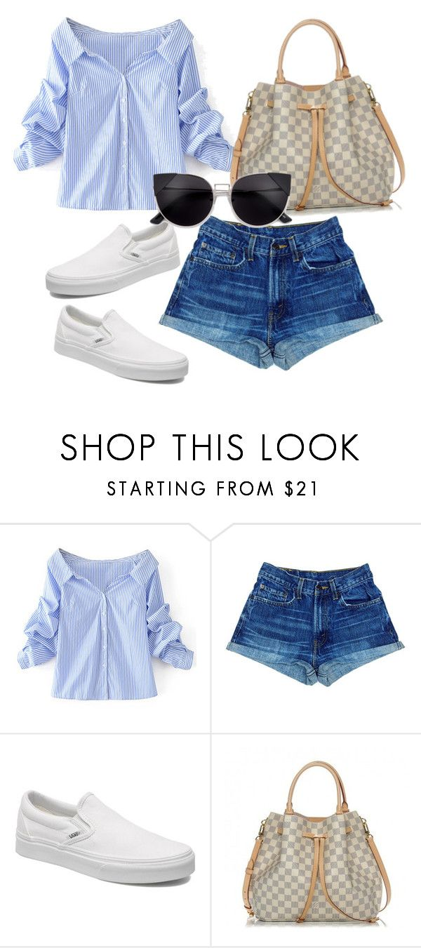 """""""."""" by valeria-arcos on Polyvore featuring WithChic, Vans and Louis Vuitton"""