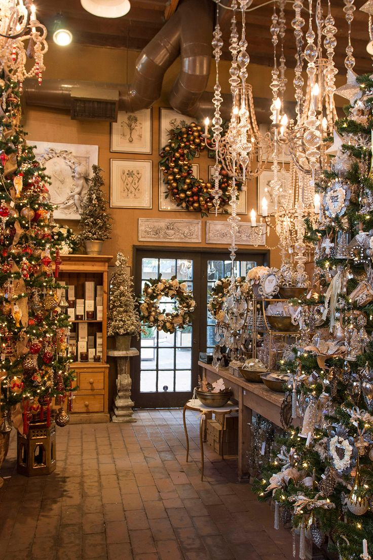 Christmas Boutique 2014 | 'The Golden Glow of Christmas' Understated luxury is highlighted with accents of pale gold, champagne and crystal. Trees, walls and mantles are adorned with ri…