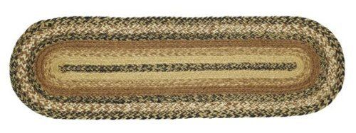 "Kettle Grove Jute Stair Tread Oval 8.5x27"" by Victorian Heart. $7.95. High end quality and workmanship!. See Product Description below for more details!. All cloth items in our collections are 100% preshrunk cotton. All braided items (like rugs, baskets, etc.) are 100% jute. Product measurements and additional details listed in title and/or Product Description below.. Extensive line of matching items and accessories available! (Search by Collection name). 100% Jute"