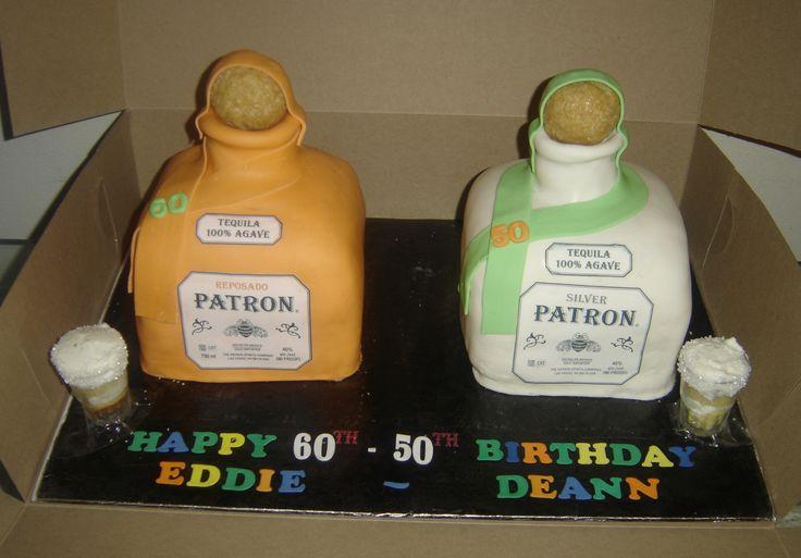 3D Patron Bottle Cakes  Patron Reposado Bottle: Strawberry Cake w/ Vanilla Buttercream Patron Sliver Bottle: Yellow Cake w/ tequila(Patron) lime buttercream and w/ two Patron Cake Shots