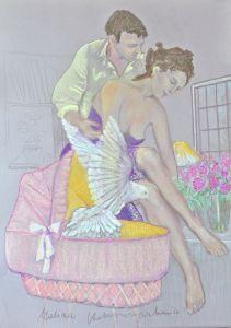 Nadzieja  Autor: Malina Kokoszczyńska  Pastele  www.kokkoart.pl  #art http://kokoszczynska.pl/ #kokoszczynska #painting