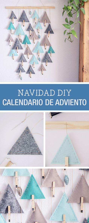 Tutorial DIY: Cómo hacer un calendario de adviento con fieltro - Navidad DIY - Manualidades y costura en DaWanda.es