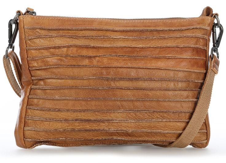 FredsBruder Riffel Crossbody Shoulder Bag camel 27 cm - 18-563r-16 - Designer Bags Shop - wardow.com