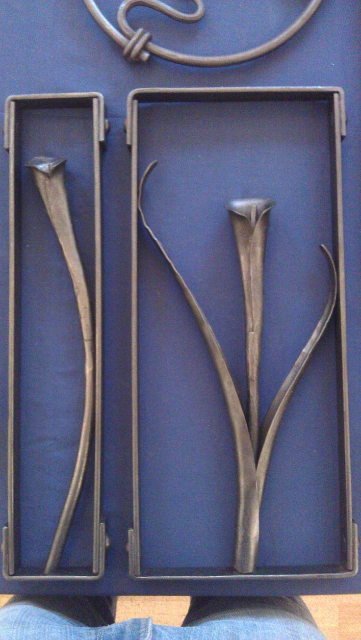 Framed Lillies by blacksmith Tom Fell