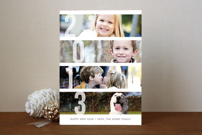 Stacked Photos New Year's Photo Cards by Amber Bar... | Minted