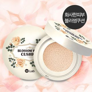 W.Lab Blossom White Cushion SPF50+ PA | No foundation makeup, White cushions, Makeup collection
