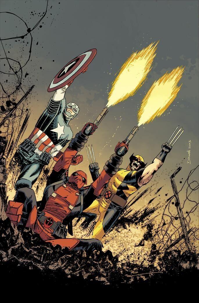 Captain America, Deadpool & Wolverine by Declan Shalvey