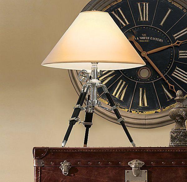 Lovely Royal Marine Tripod Lamp