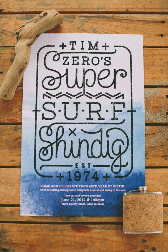Surf themed 40th birthday party | Photo by Laura Goldenberger | 100 Layer Cake