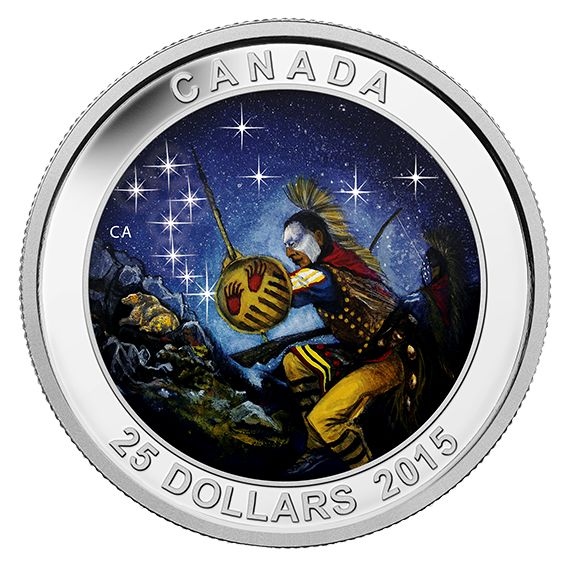 Fine Silver Glow-in-the-Dark Coin – Star Charts: The Wounded Bear – Mintage: 7,500 (2015)